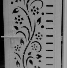metal plate flower design