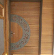 Half circle safety door design