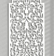 floral metal plae jali design