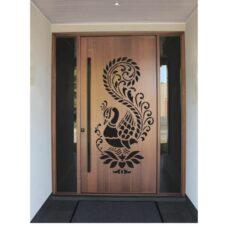 peacock lotus design
