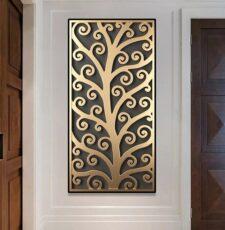 Plasma curl tree jali design