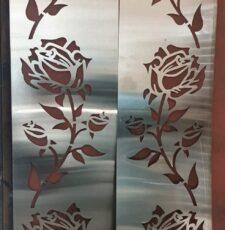 rose flower plate design