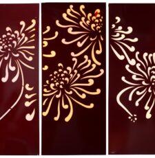 3 flower garden penal design