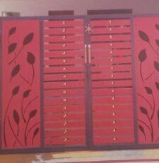 metal plate leaf gate design