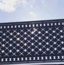 cnc metal plate fence design