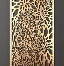 leaf flower jali design